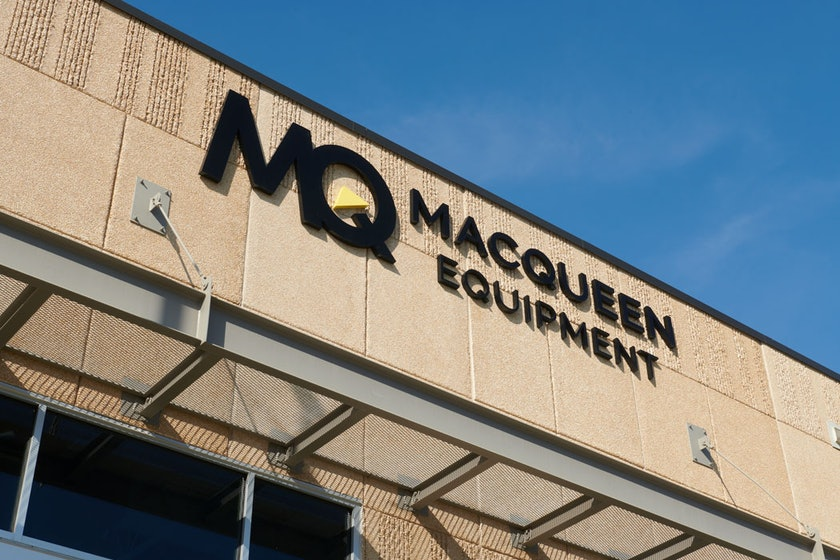 MacQueen Equipment signage